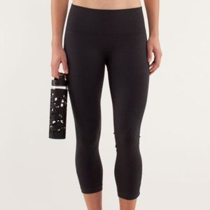 Lululemon Ebb and Flow Crop II Deep Coal